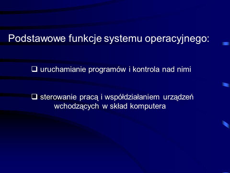 Podstawowe funkcje systemu operacyjnego: