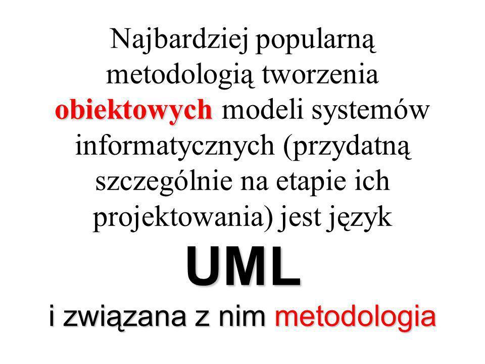 Najbardziej popularną metodologią tworzenia obiektowych modeli systemów informatycznych (przydatną szczególnie na etapie ich projektowania) jest język UML i związana z nim metodologia