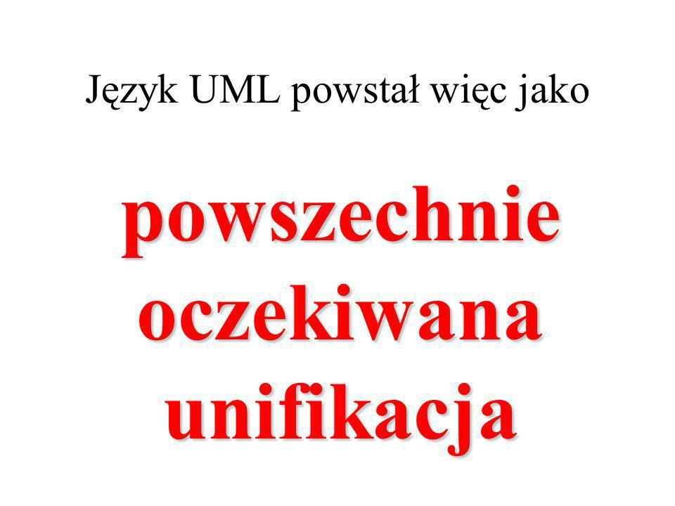 Język UML powstał więc jako