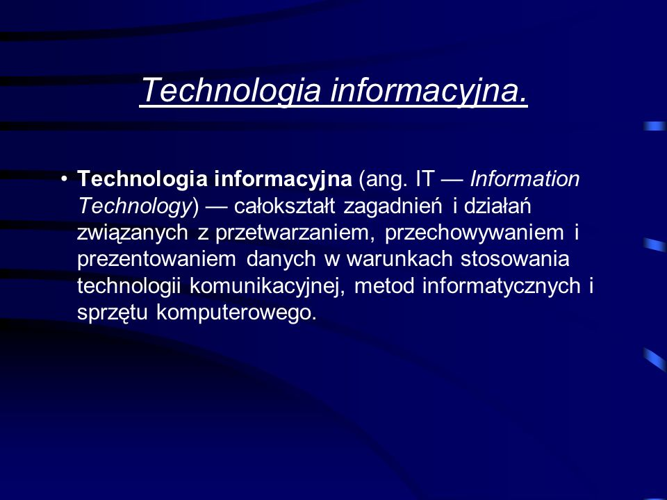 Technologia informacyjna.