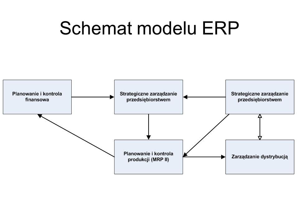Schemat modelu ERP