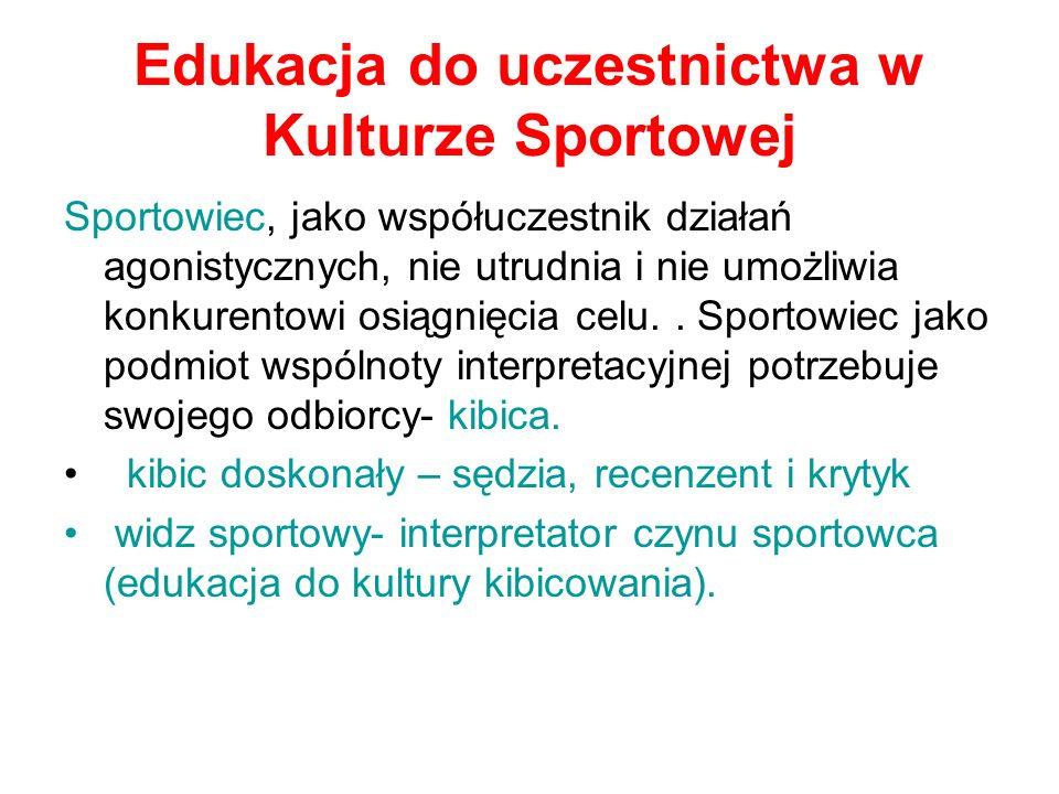 Edukacja do uczestnictwa w Kulturze Sportowej
