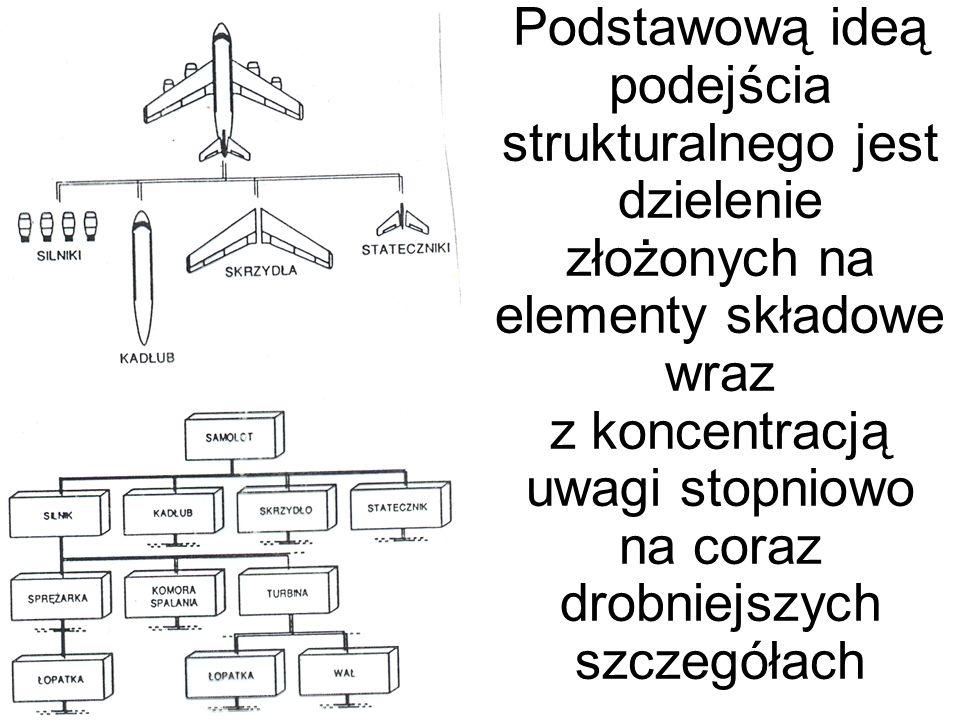 Podstawową ideą podejścia strukturalnego jest dzielenie złożonych na elementy składowe wraz z koncentracją uwagi stopniowo na coraz drobniejszych szczegółach