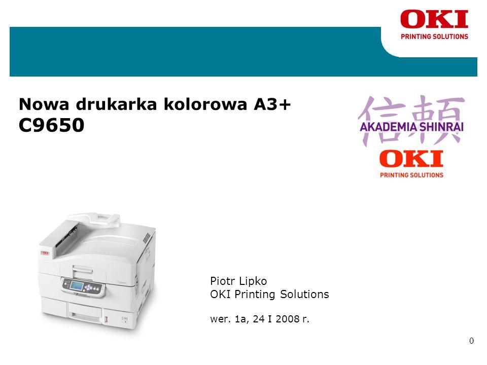 Nowa drukarka kolorowa A3+ C9650