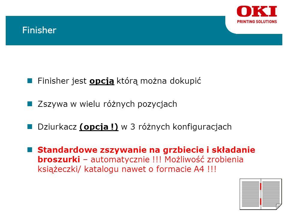 Finisher Finisher jest opcją którą można dokupić
