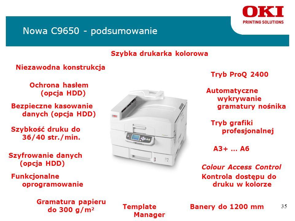 Nowa C9650 - podsumowanie Szybka drukarka kolorowa
