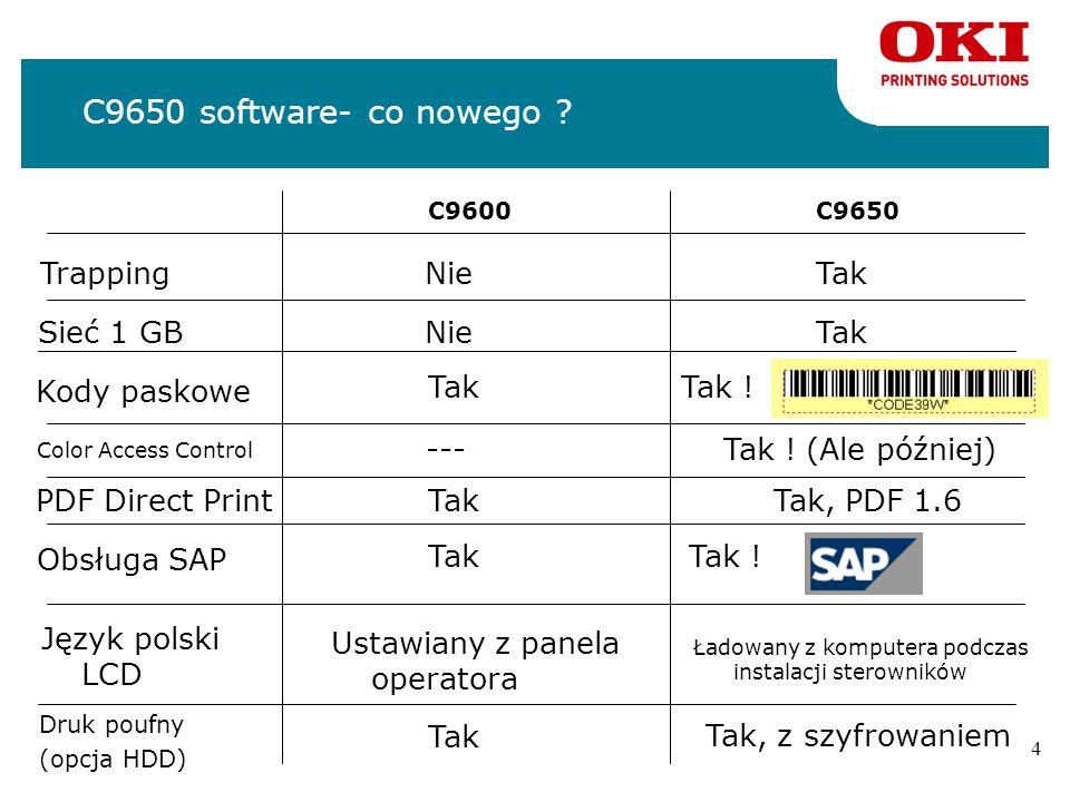 C9650 software- co nowego Trapping Nie Tak Sieć 1 GB Nie Tak