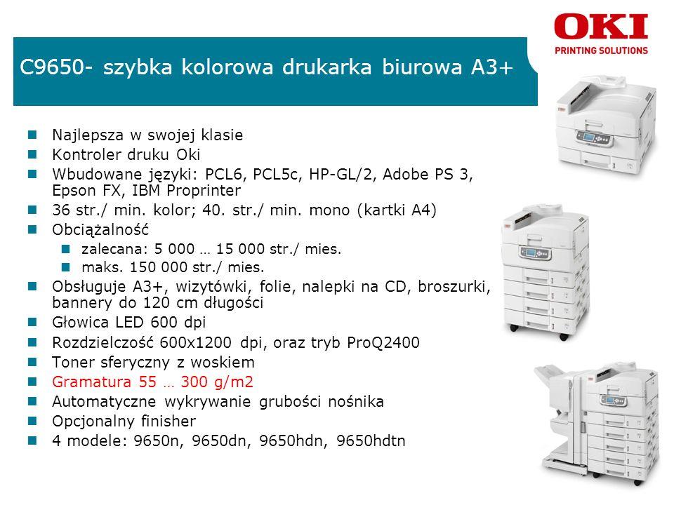 C9650- szybka kolorowa drukarka biurowa A3+