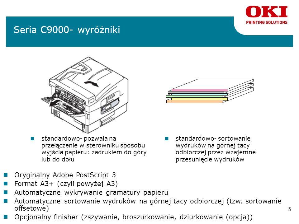 Seria C9000- wyróżniki Oryginalny Adobe PostScript 3