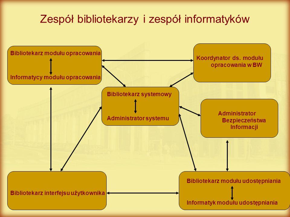 Zespół bibliotekarzy i zespół informatyków