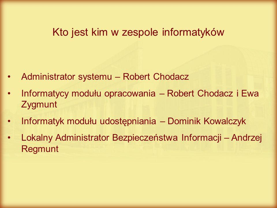 Kto jest kim w zespole informatyków