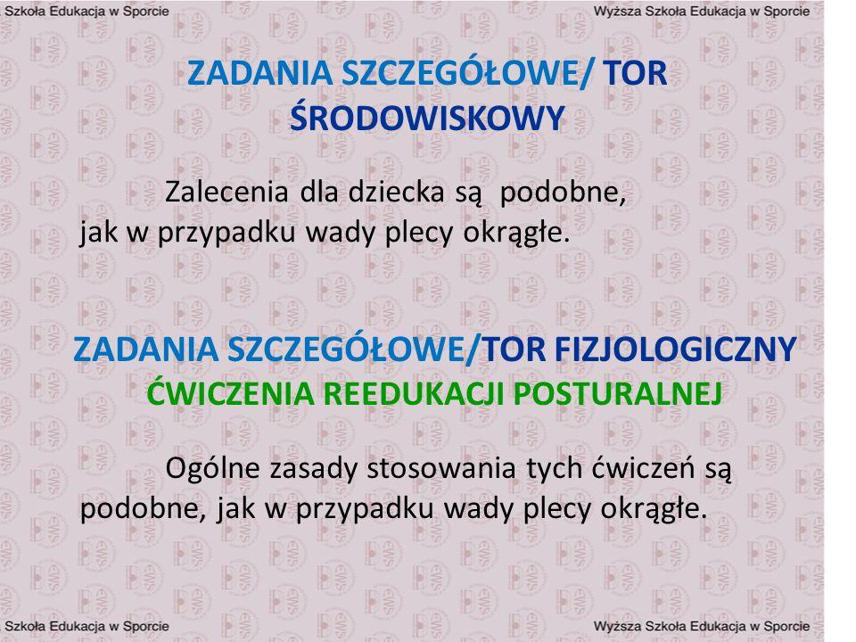 ZADANIA SZCZEGÓŁOWE/ TOR ŚRODOWISKOWY