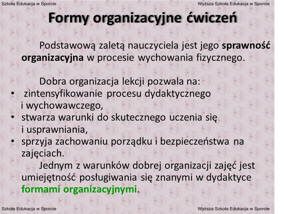 Formy organizacyjne ćwiczeń