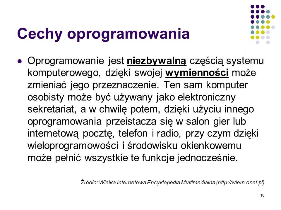 Cechy oprogramowania