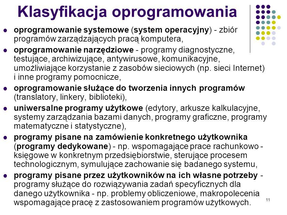Klasyfikacja oprogramowania