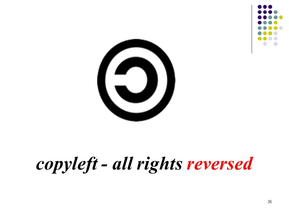 copyleft - all rights reversed