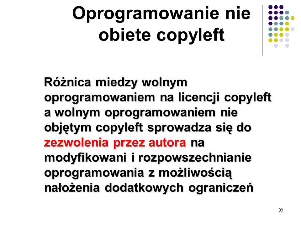 Oprogramowanie nie obiete copyleft