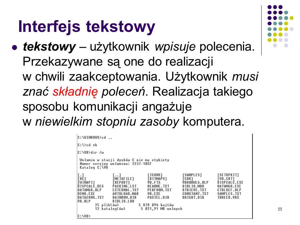 Interfejs tekstowy