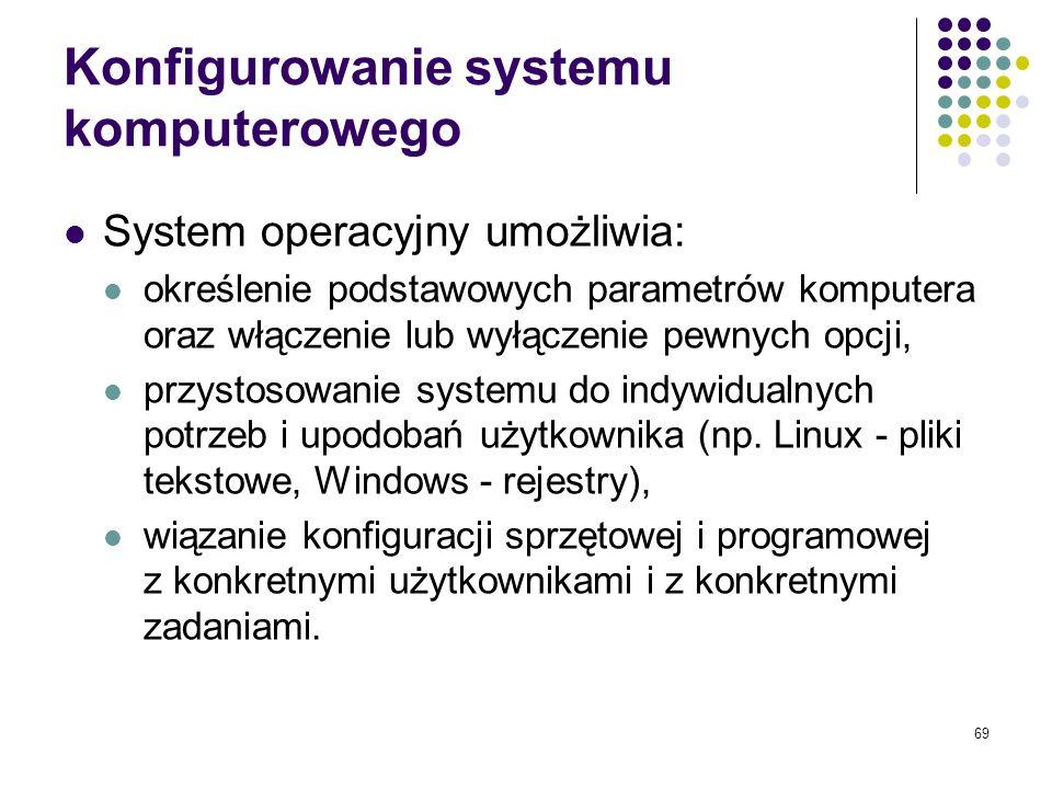 Konfigurowanie systemu komputerowego