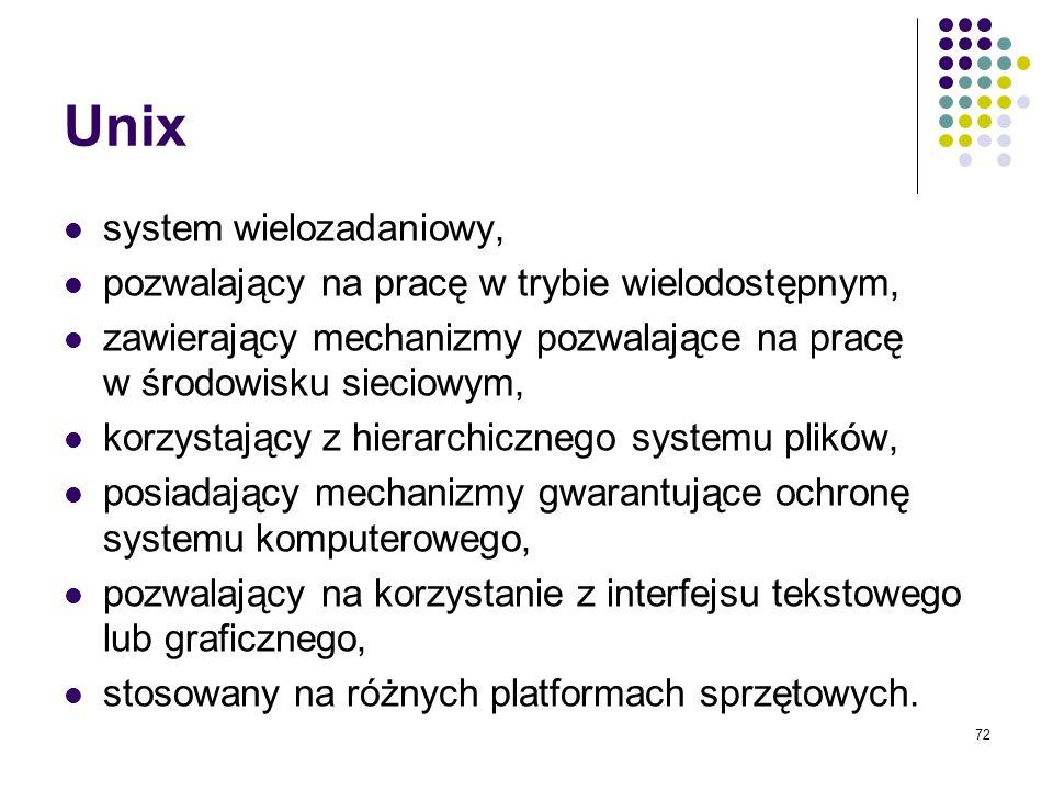 Unix system wielozadaniowy,