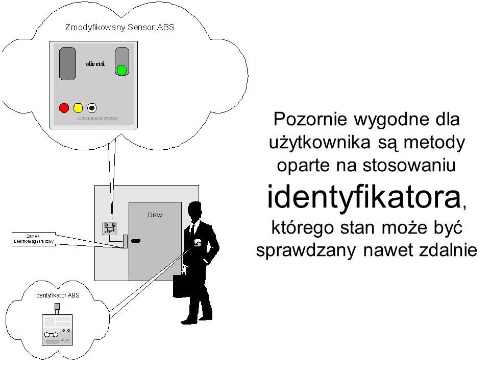Pozornie wygodne dla użytkownika są metody oparte na stosowaniu identyfikatora, którego stan może być sprawdzany nawet zdalnie