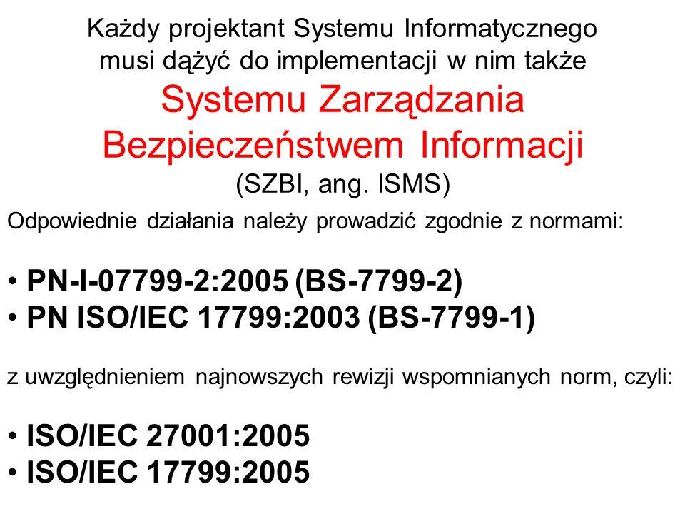 PN-I-07799-2:2005 (BS-7799-2) PN ISO/IEC 17799:2003 (BS-7799-1)