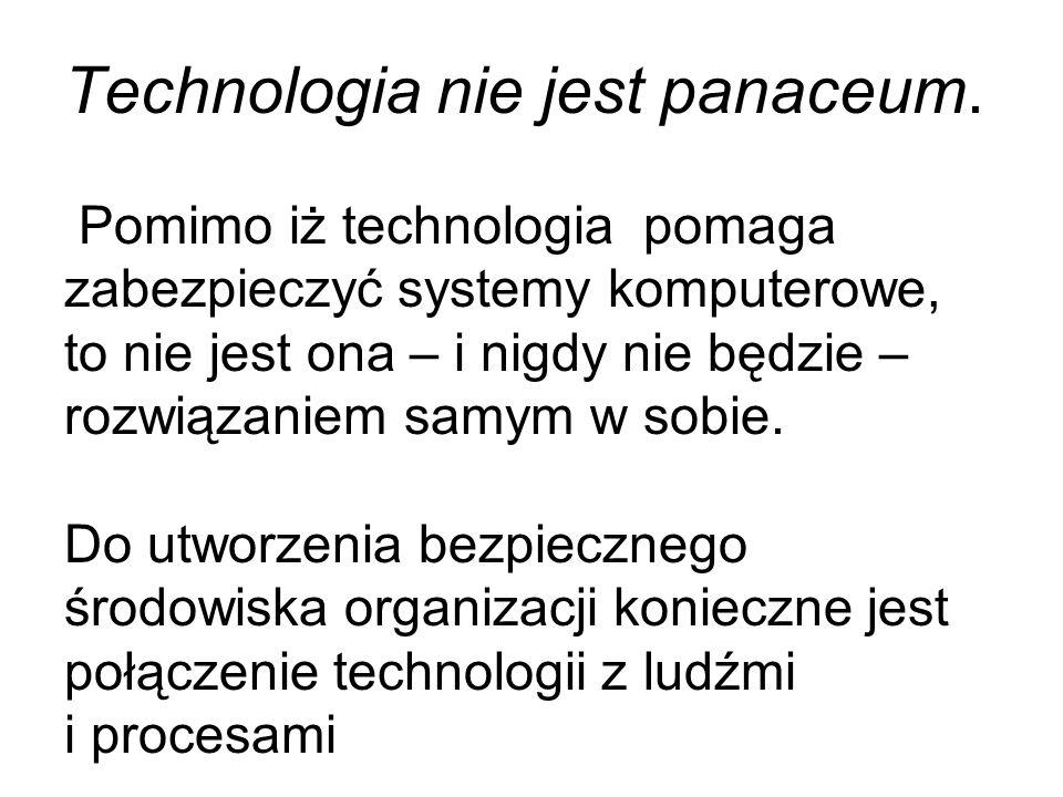 Technologia nie jest panaceum
