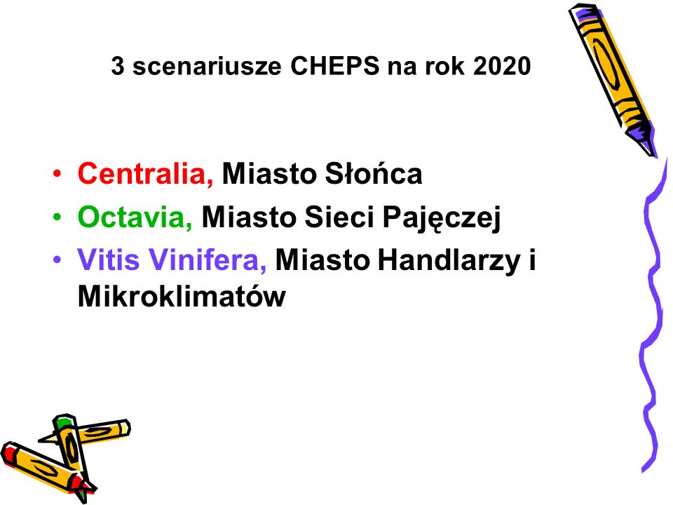 3 scenariusze CHEPS na rok 2020
