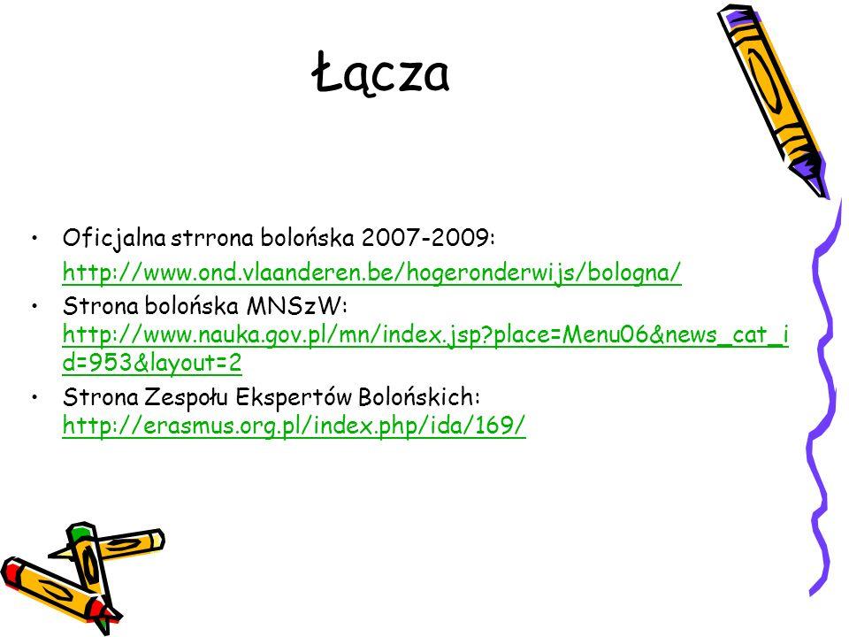 Łącza Oficjalna strrona bolońska 2007-2009: