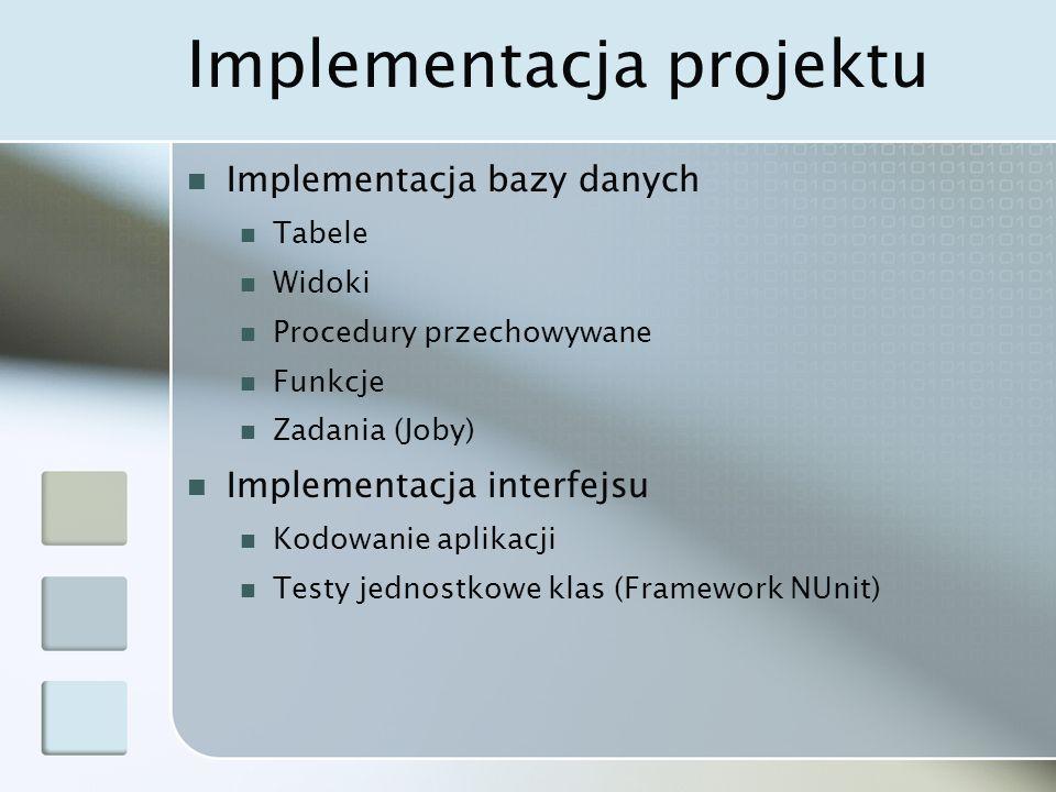 Implementacja projektu