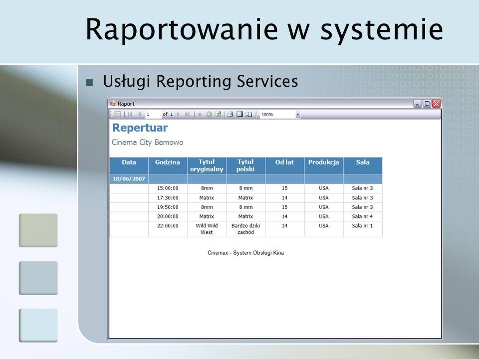 Raportowanie w systemie