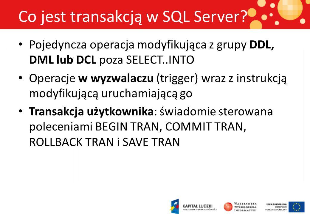 Co jest transakcją w SQL Server