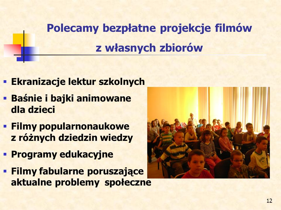Polecamy bezpłatne projekcje filmów