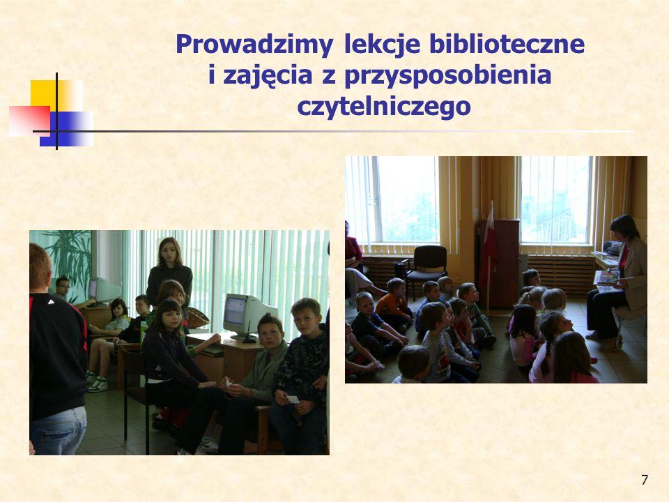 Prowadzimy lekcje biblioteczne i zajęcia z przysposobienia