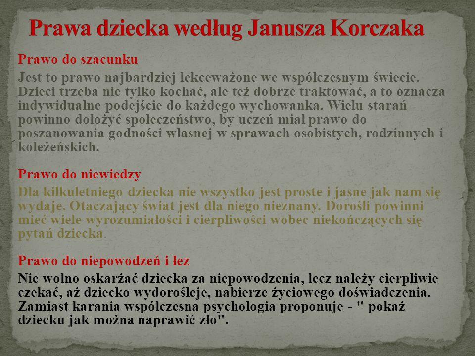 Prawa dziecka według Janusza Korczaka