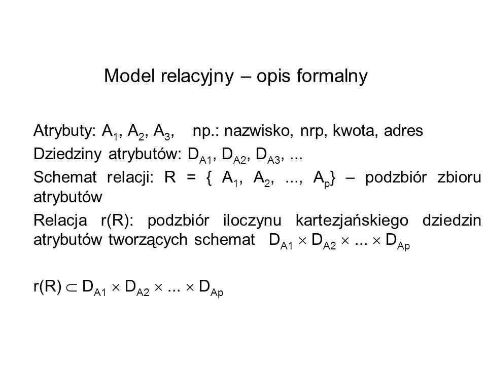Model relacyjny – opis formalny