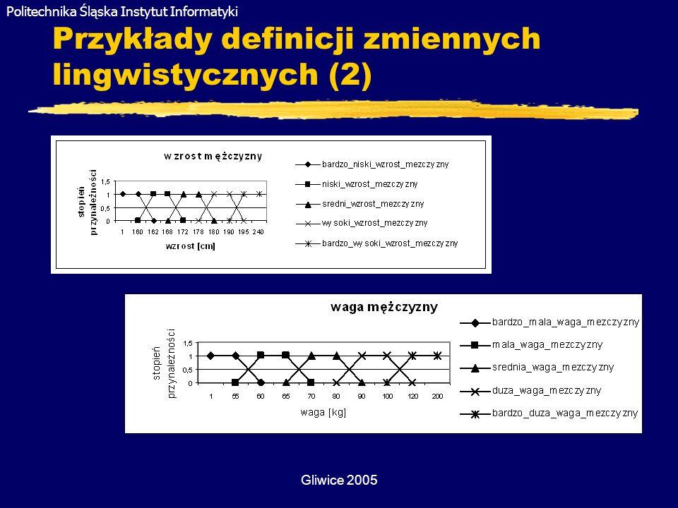 Przykłady definicji zmiennych lingwistycznych (2)