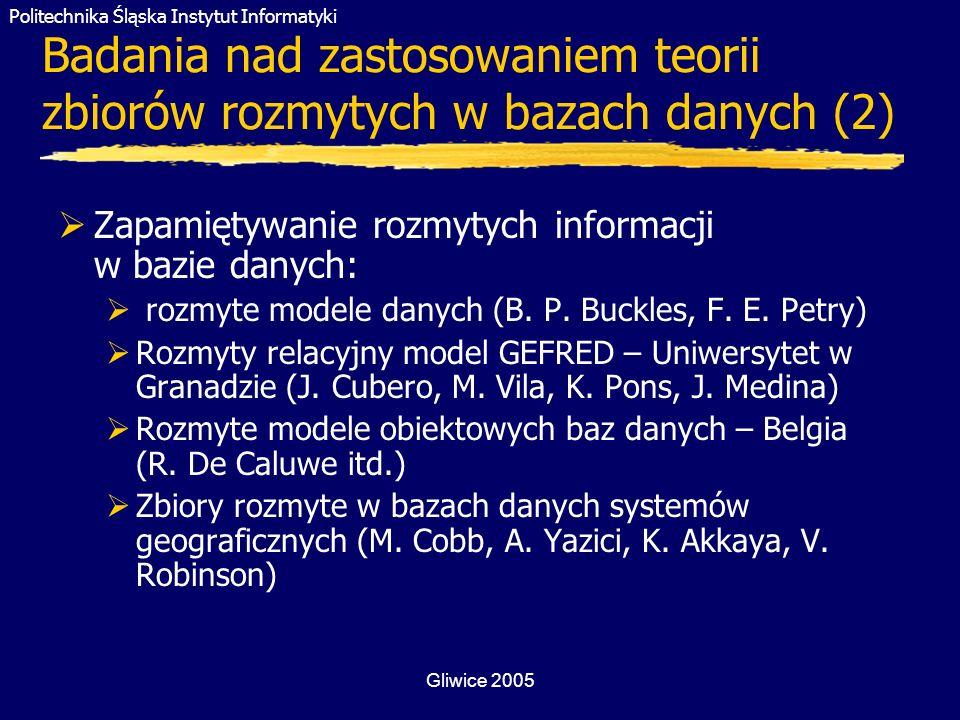 Badania nad zastosowaniem teorii zbiorów rozmytych w bazach danych (2)