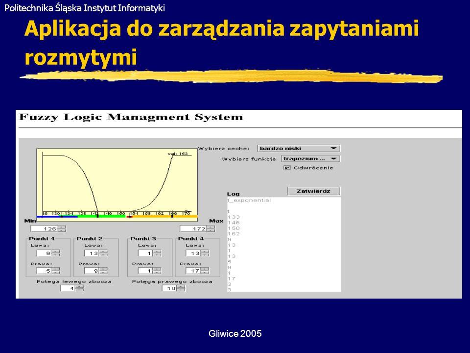 Aplikacja do zarządzania zapytaniami rozmytymi