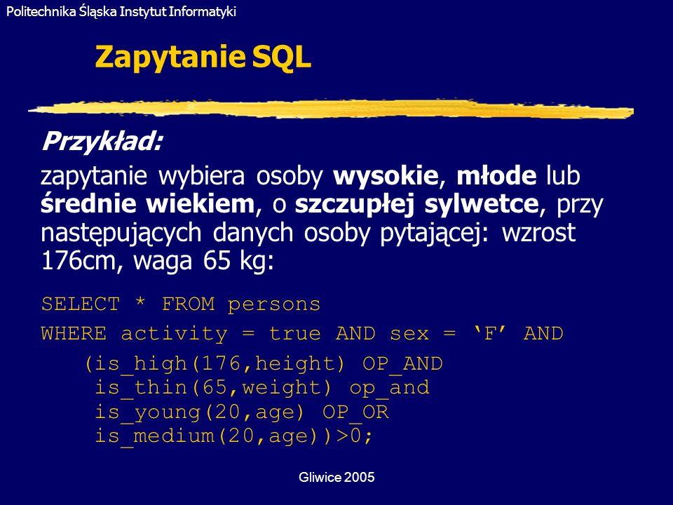 Zapytanie SQL Przykład: