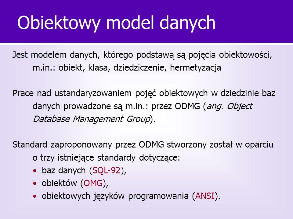 Obiektowy model danych