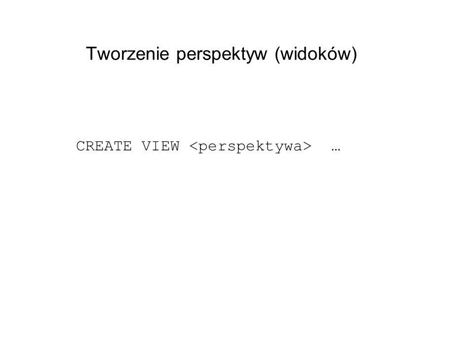 Tworzenie perspektyw (widoków)