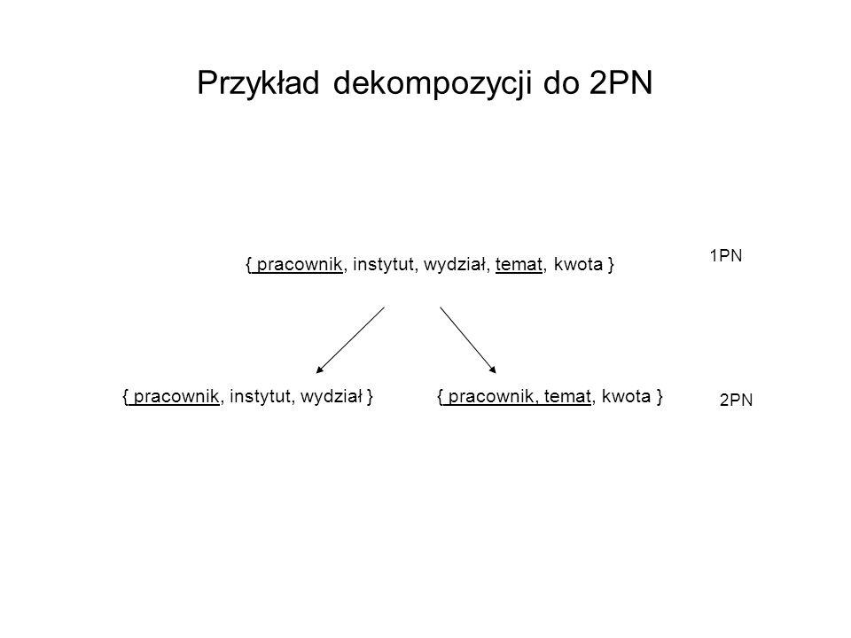 Przykład dekompozycji do 2PN