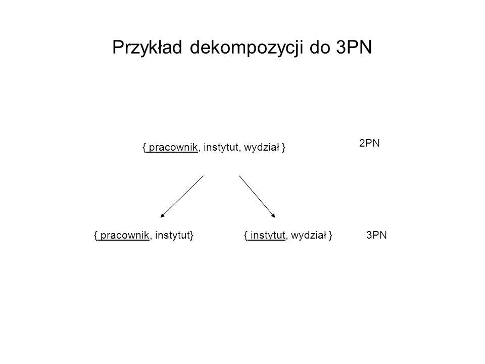 Przykład dekompozycji do 3PN