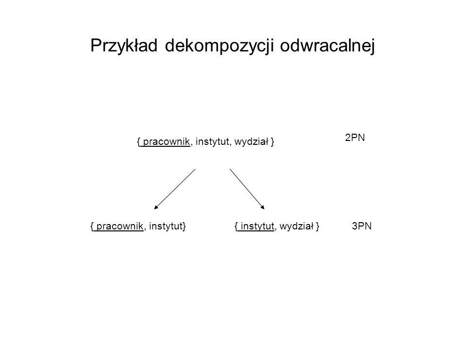 Przykład dekompozycji odwracalnej