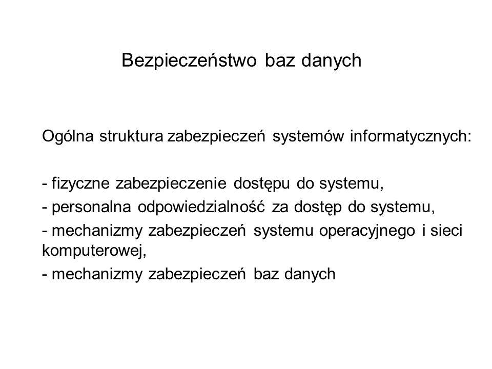 Bezpieczeństwo baz danych