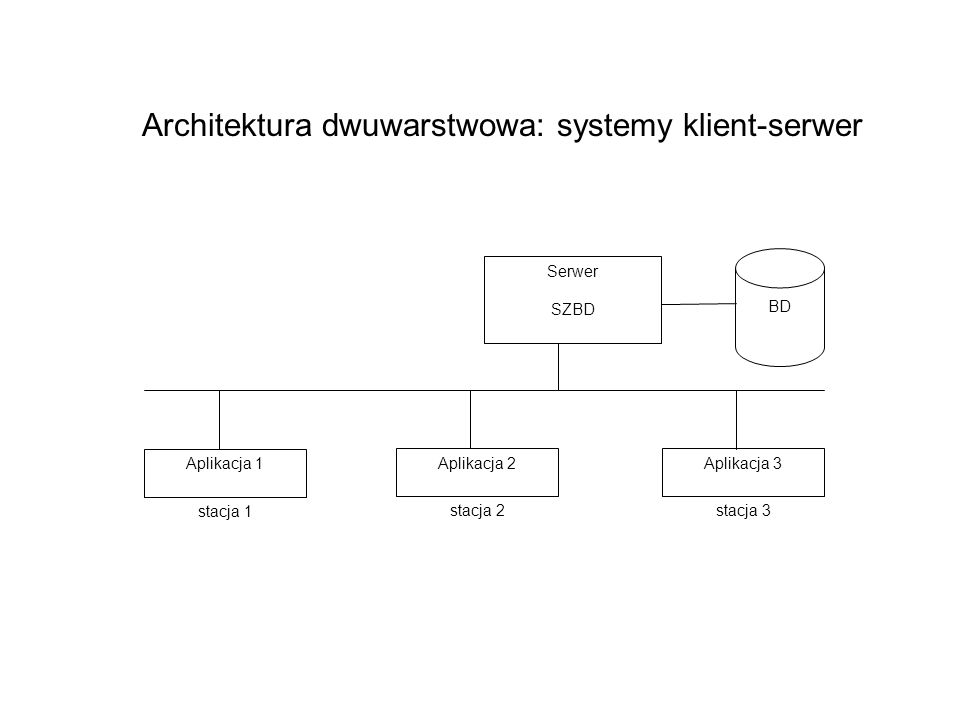 Architektura dwuwarstwowa: systemy klient-serwer