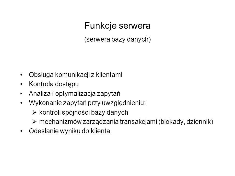 Funkcje serwera (serwera bazy danych)