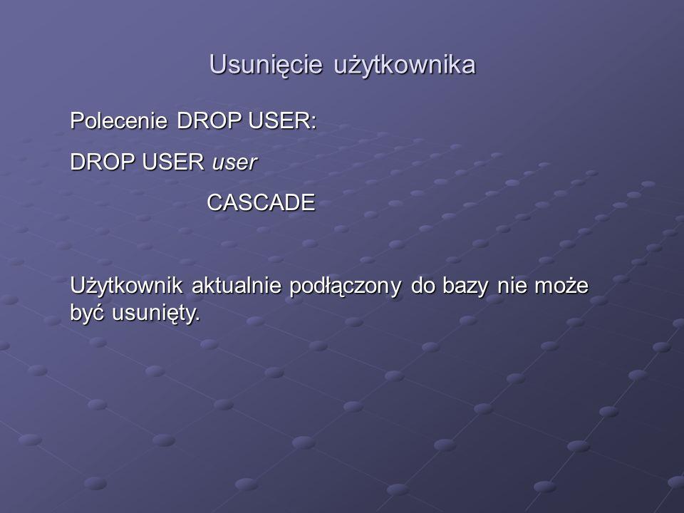 Usunięcie użytkownika