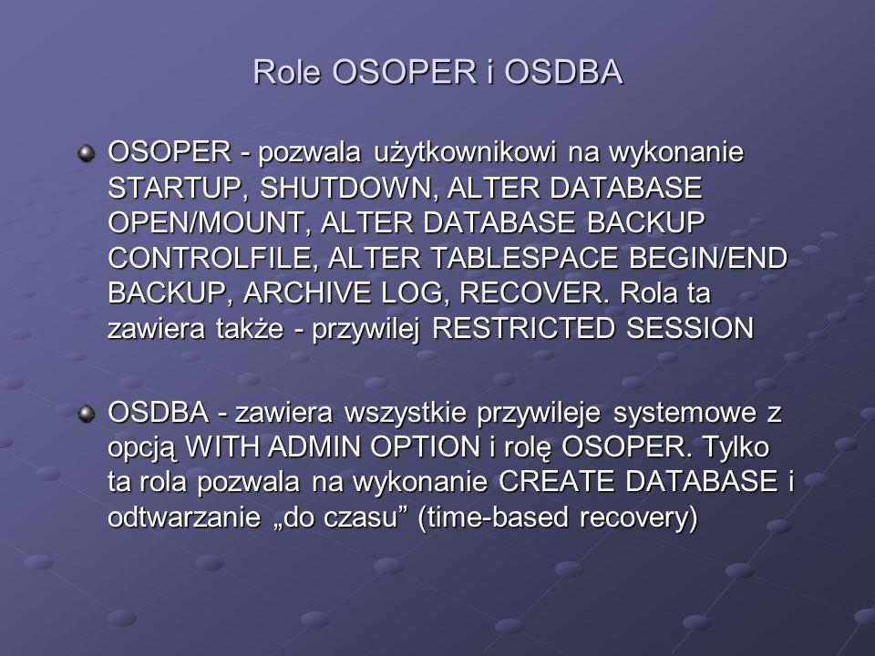 Role OSOPER i OSDBA